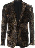 Etro printed velvet blazer