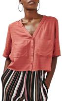 Topshop &Holly& Short Sleeve V-Neck Shirt