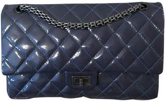 Chanel 2.55 Blue Patent leather Handbags