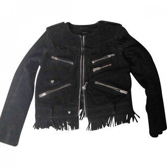 The Kooples Black Leather Coat for Women