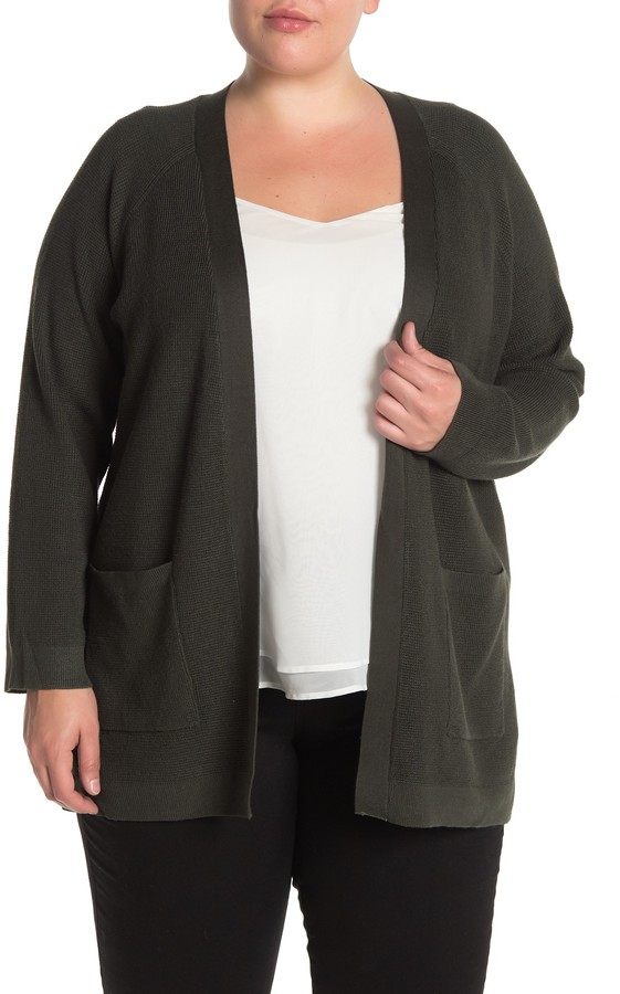 Cyrus Thermal 2-Pocket Open Front Cardigan (Plus Size)