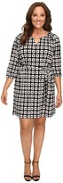 Christin Michaels Plus Size Kimball Geo Print Dress