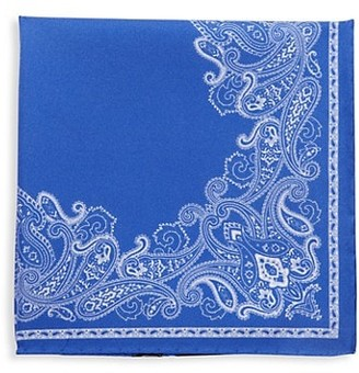 Saks Fifth Avenue Made In Italy Paisley-Print Silk Pocket Square
