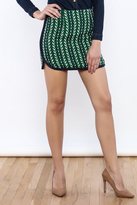 English Factory Abstract Mini Skirt