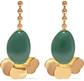 Marni Gold-tone Resin Earrings - one size