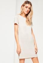 Missguided White Bone Short Sleeve T-Shirt Dress