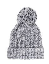 Quiz Grey Knit Pom Pom Hat