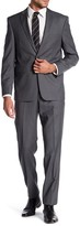 Vince Camuto Grey Micro Stripe Notch Lapel Two Button Slim Fit Wool Suit