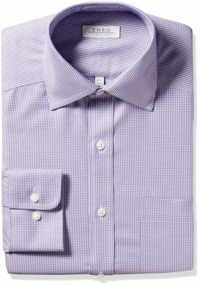 Enro Men's Paddington Houndstooth Non-Iron Classic Fit Dress Shirt