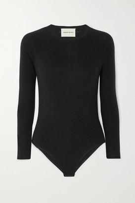 LOULOU STUDIO Cashmere-blend Bodysuit - Black