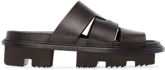 Rick Owens Lazarus Megatooth leather sandals