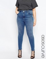 Asos Ridley Ankle Grazer Jean In Whistler Wash