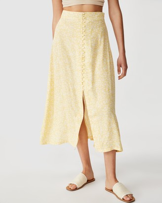 Cotton On Summer Button Midi Skirt