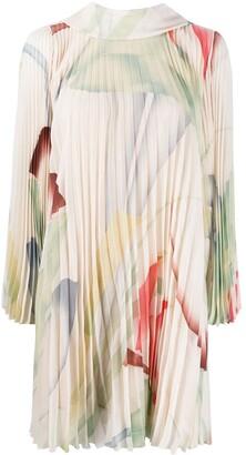 Etro Foliage accordion-pleat dress
