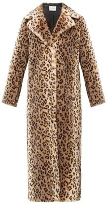 Stand Studio Alena Leopard Print Faux-fur Coat - Womens - Leopard