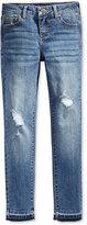 Celebrity Pink Released Hem Distressed Skinny Jeans, Big Girls (7-16)