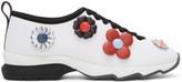 Fendi White Neoprene Flowerland Sneakers