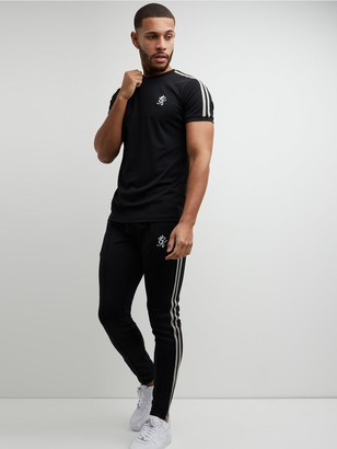 Gym King Taped Poly T-Shirt - Black