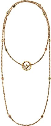 Fendi F is double-wrap necklace