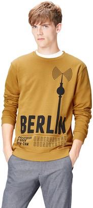 Find. Amazon Brand Men's Berlin Print Crew Neck Sweatshirt