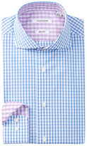 Isaac Mizrahi Slim Fit Check Dress Shirt