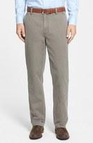 Cutter & Buck 'Curtis' Flat Front Five-Pocket Cotton Twill Pants (Big & Tall)