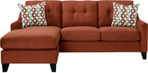 Rooms To Go Cindy Crawford Madison Place Copper 2Pc Sectional