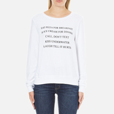 Wildfox Couture Women's Day Off List Baggy Beach Sweatshirt Cleanwhite