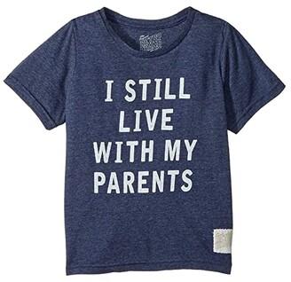 Original Retro Brand The Kids I Still Live with My Parents Short Sleeve Tri-Blend Tee (Little Kids/Big Kids) (Streaky Navy) Boy's T Shirt