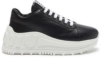 Miu Miu Platform leather sneakers