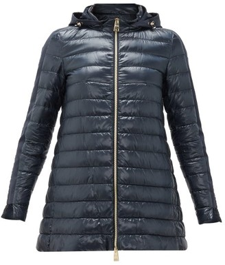 Herno Down-padded Technical Shell Jacket - Womens - Navy