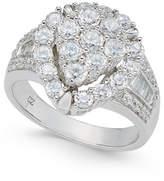 Macy's Diamond Teardrop Cluster Ring (4 ct. t.w.) in 14k White Gold