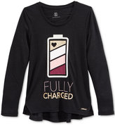Sean John Fully Charged Graphic-Print Long-Sleeve T-Shirt, Big Girls (7-16)