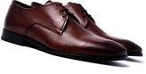 Hugo Square Medium Brown Leather Derby Shoes