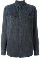 Givenchy distressed denim shirt - women - Cotton - 38