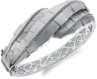 Effy Sterling Silver & Diamond Textured Bracelet
