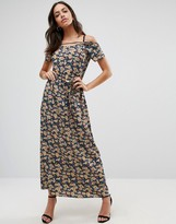 Liquorish Ditsy Floral Print Maxi Dress