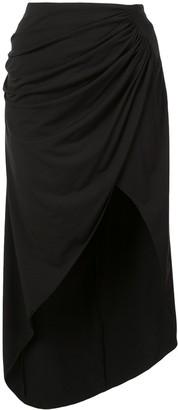 Fleur Du Mal Draped Midi Skirt