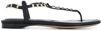 Salvatore Ferragamo Vara chain thong sandals
