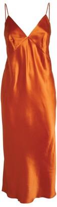 Olivia von Halle Silk Issa Slip Dress