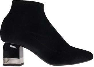 Pierre Hardy Kelly Ankle Boots In Black Velvet