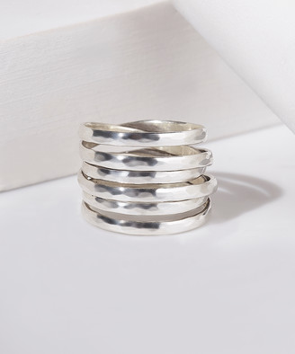 Urban Silver Women's Rings - Sterling Silver Wrap Band Ring