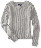 Aeropostale Womens Solid Chenille Sweater