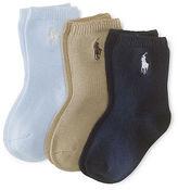 Ralph Lauren Stretch Crew Sock 3-Pack