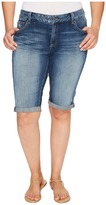 Lucky Brand Plus Size Ginger Bermuda Shorts in Tamarac Women's Shorts