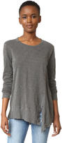 Wilt Slanted Seamed Tunic Tee Long Sleeve
