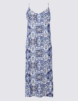 Marks and Spencer Tile Print Slip Dress