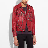 Coach Painted Wild Moto Jacket