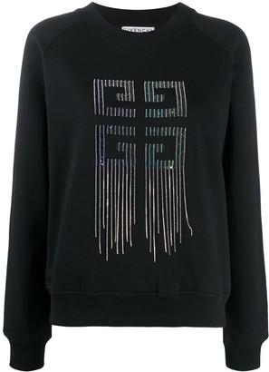 Givenchy rhinestone fringed 4G sweatshirt