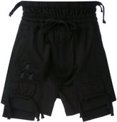Kokon To Zai embroidered shorts - men - Cotton - L